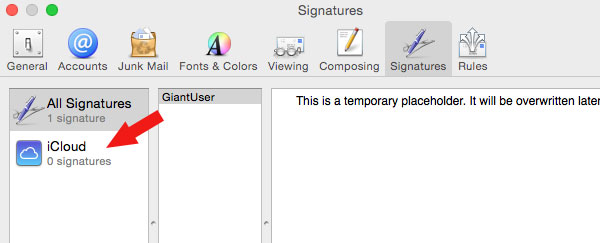 How to Make an HTML Signature in Apple Mail for Yosemite OS X 10.10