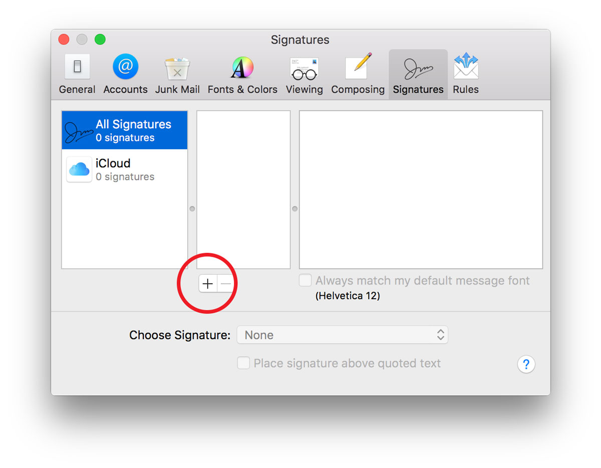 How to Make an HTML Signature in Apple Mail for High Sierra OS X 10.13